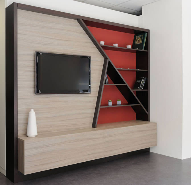 meubles tv meubles de salon et rangements sur mesure. Black Bedroom Furniture Sets. Home Design Ideas